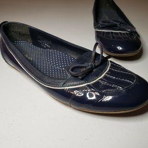 LL Bean Water Resistant Duck Ballet Flats Navy 7.5